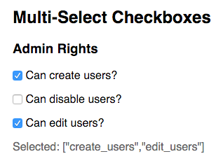 Multi-select checkboxes
